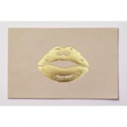 "Carte cuir ""Lips"""