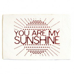 "Carte cuir ""Sunshine"""