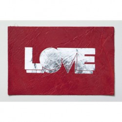 "Carte cuir ""Love"""
