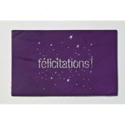 "Carte cuir ""Félicitations"""