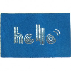 "Carte cuir ""Hello"""