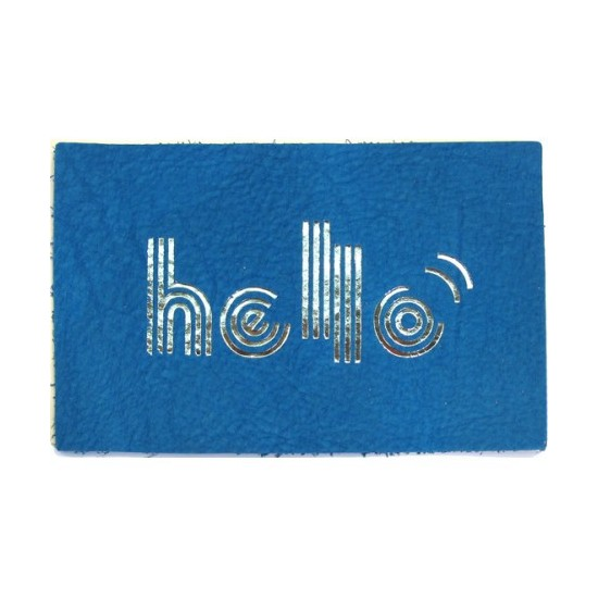 "Carte cuir ""Hello"""