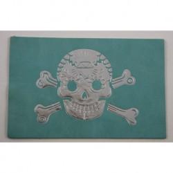 """Carte cuir """"Tête de mort"""""""