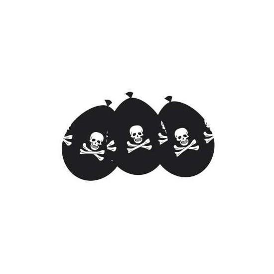 6 ballons - Pirate 25 cm