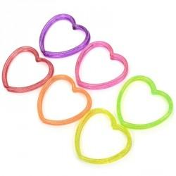 8 bracelets coeur glitter