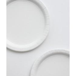 8 assiettes en carton - blanc