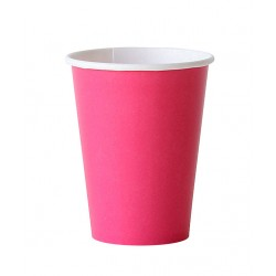8 gobelets en carton - rose foncé