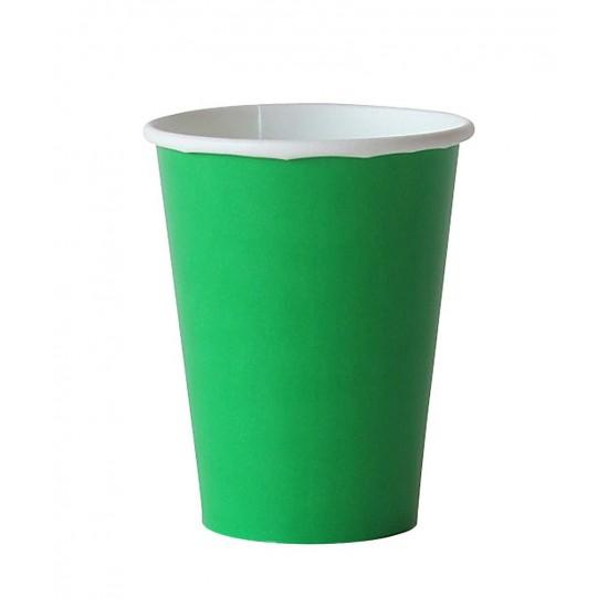 8 gobelets en carton - vert