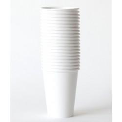 8 gobelets en carton - blanc