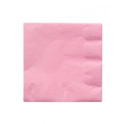 8 serviettes en papier - rose clair