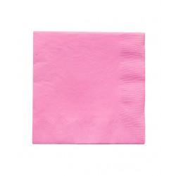 20 serviettes en papier - rose foncé
