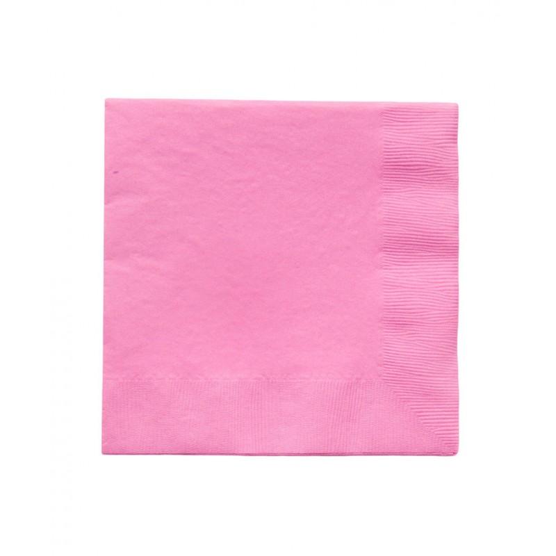 20 serviettes en papier rose bonbon 33x33cm happy family. Black Bedroom Furniture Sets. Home Design Ideas