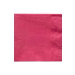 20 serviettes en papier - rose fchsia