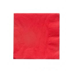 20 serviettes en papier - rouge 33x33cm