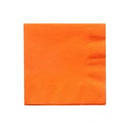 20 serviettes en papier - orange