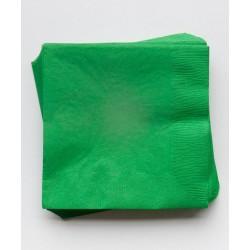 20 serviettes en papier - vert