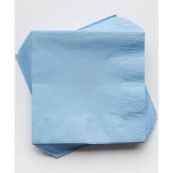 20 serviettes en papier - bleu ciel