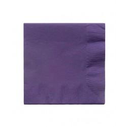 20 serviettes en papier - mauve