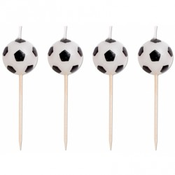 4 bougies ballons de football