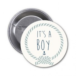 "4 Badges It's a Boy ""corde"""