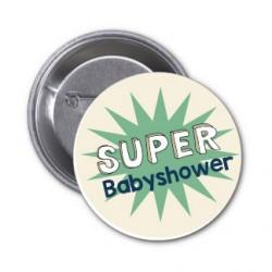 """10 badges """"Super Babyshower"""""""