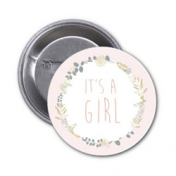 "Badge ""It's a Girl"""