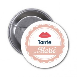 "Badge ""Tante du marié"""