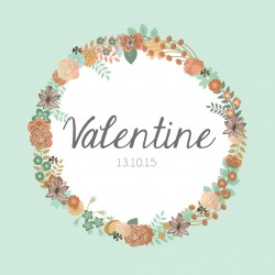 "Faire-part ""Valentine"""