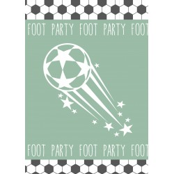 8 invitations anniversaire foot