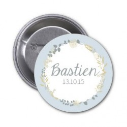 "Badge à personnaliser ""Bastien"""