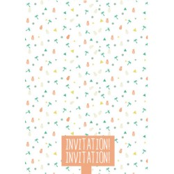8 cartons d'invitation anniversaire summer