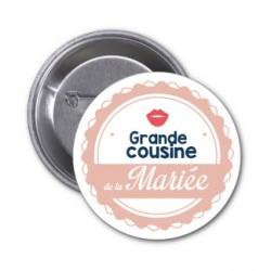 "Badge ""Grande cousine de la mariée"""