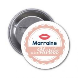 "Badge ""Marraine de la mariée"""