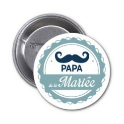 "Badge ""Papa de la mariée"""