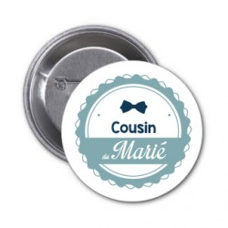 "Badge ""Cousin du marié"""