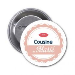 """Badge """"Cousine du marié"""""""