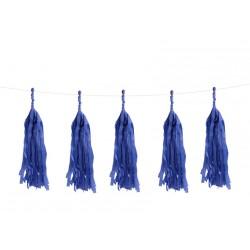 Guirlande 5 tassels - Bleu roi
