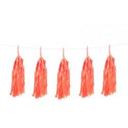 Guirlande 5 tassels - Orange