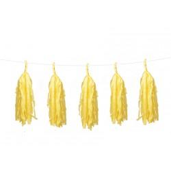 Guirlande 5 tassels - Jaune