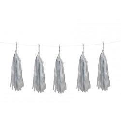 Guirlande 5 tassels - Gris clair