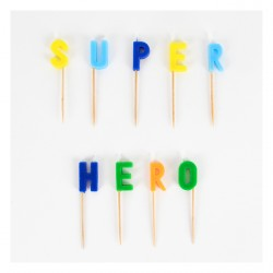 "Bougies ""Super héros"""
