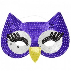 Masque hibou en sequin