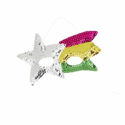 Masque étoile filante en sequin