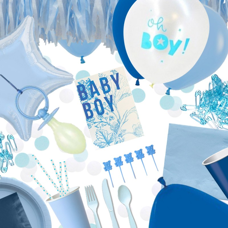 Kit babyshower gar on happy family - Deco baby shower garcon ...