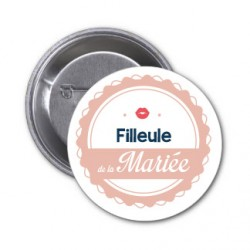"""Badge """"Filleule de la mariée"""""""