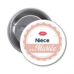 "Badge ""Nièce de la mariée"""