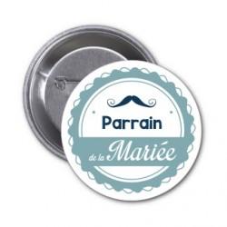 "Badge ""Parrain de la mariée"""
