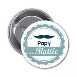 """Badge """"Papy de la mariée"""""""