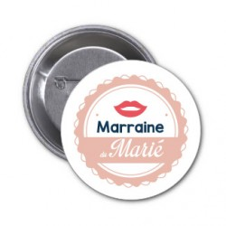 "Badge ""Marraine du marié"""