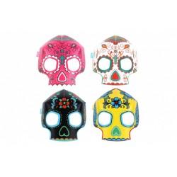 8 masques Squelette - Phosphorescents
